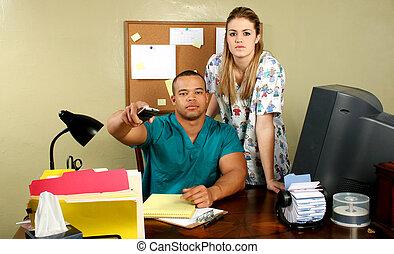 Doctor Nurse and Remote