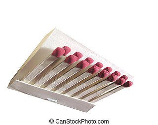 book of matches isolated over a white background