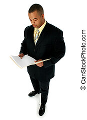 Business Man Suit - Handsome African American business man...