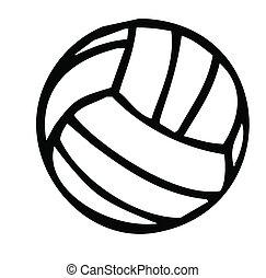 voleibol, silueta