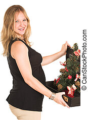 Business Woman #509 - Pregnant Business Woman, wearing black...