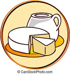 pictogram - dairy products - pict - dairy - cheese, milk,...