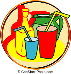 pictogram - drinks - pict - drinks - water, cola, etc