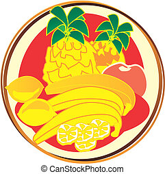 pictogram - fruits - pict - fruits - banana, citron,...