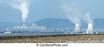 Power plant - Panoramic view of a Thermal power station