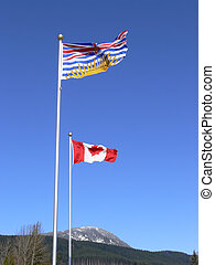 BC and Canada flags