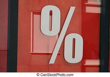 Per cent - Price reduction