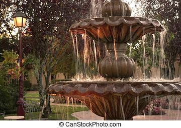 courtyard fountain - detail shot of fountain,show water...