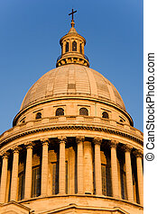 The Pantheon - Low-angle view of the dome of the Pantheon at...