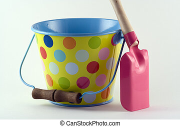 Bucket and Spade - Bucket and spade ready for a trip to the...