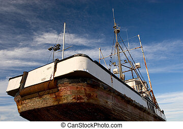 Fishing Boat, Dry Dock - Photo of a fishing boat in dry...