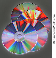 compact discs - reflection on the compact disks surface