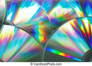 compact disc - reflection on the compact disk\\\'s surface