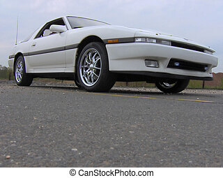 White Import Sports Car 80s - Doesn\\\'t look 20 years old,...