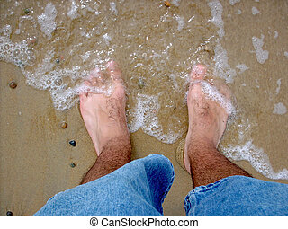 Hairy, Cold, Wet Feet - The ocean is washing ashore on my...