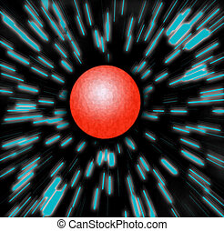 Red Planet Zoom Blur - you\\\'re zooming to a red planet -...