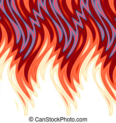 Hot Flames - Hot flames background.
