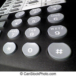 Phone Buttons - A closeup of my desk phone at work