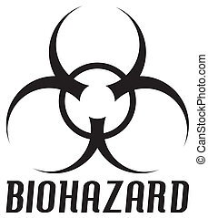 Biohazard Symbol - watch out!  rasterized drawing/clip-art.