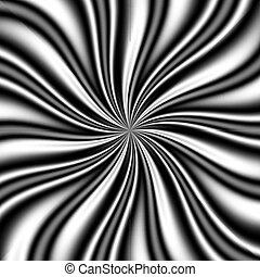b&w Swirly Vortex - b&w swirly background