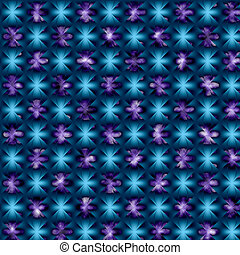Abstract Patchwork - abstact blue and purple pattern