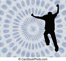 Jump Into the Vortex - w/ clipping path - silhouette jumping...
