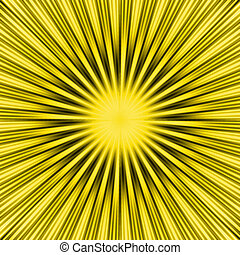 Yellow SunBurst - a burst yellow star background