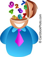 number brain - businessman with number skills, maybe hes an...