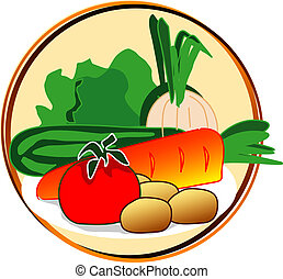 pictogram - vegetables - pict - vegetables - onion, carrot,...