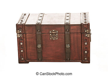 suitcase004 - open treasure case on white background