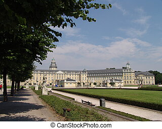 Karlsruhe Schloss - The old chateau at Karlsruhe in the...