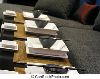 Japanese table setting - Table setting at japanese...