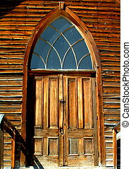 Church Doors - Old church doors,Bannack Montana,Historical