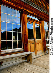 Big Sky Reflection - Skinner Saloon,Bannack Montana,Historic