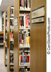 Library - Bookshelves in library