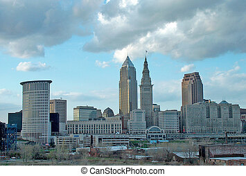 Cleveland Ohio - A view of Cleveland Ohio skyline