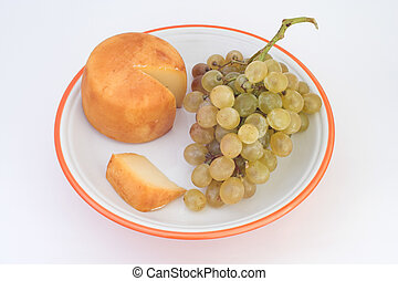 Grapes & cheese tastes of kiss