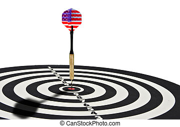 On target - Dart centered in board indicating success