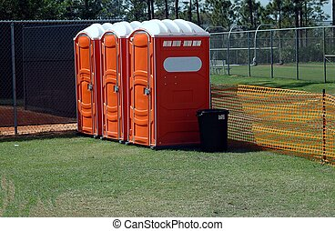 Portable Toilets - Photographed portable toilets at a local...