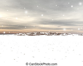 Snow Sky - A background of a snow driven sky for winter use.