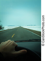 driving through the midwest during winter