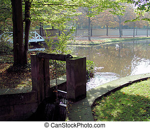 Park Weir - A weir in a castle park in the Palatine area of...