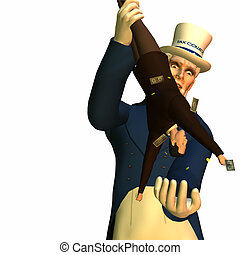 Tax Man Cometh 1 - Government represented by Uncle Sam...