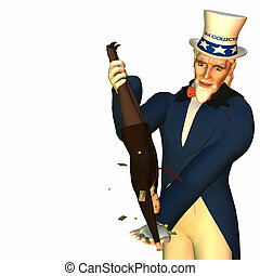 Tax Man Cometh 2 - Government represented by Uncle Sam...