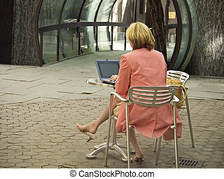 Outdoors Online - This is a shot of a lady outdoors on her...