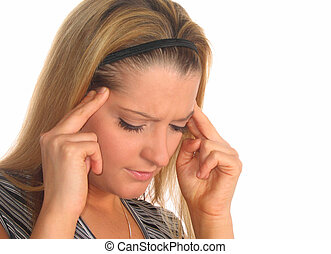 Woman With Headache - Young woman with headache