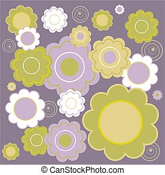 floral tile - tileable floral background design