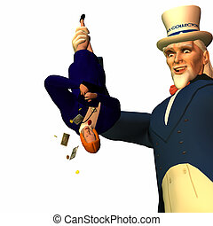 Tax Man Cometh 4 - Government represented by Uncle Sam...