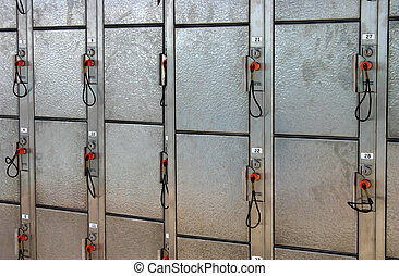 lockers - metal lockers with keys