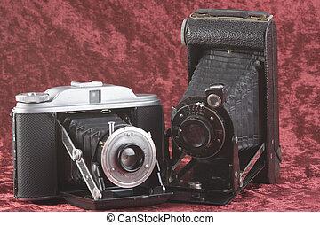 Antique Cameras - Two antique cameras